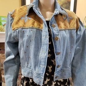 Cache vintage cropped ornate jacket size S